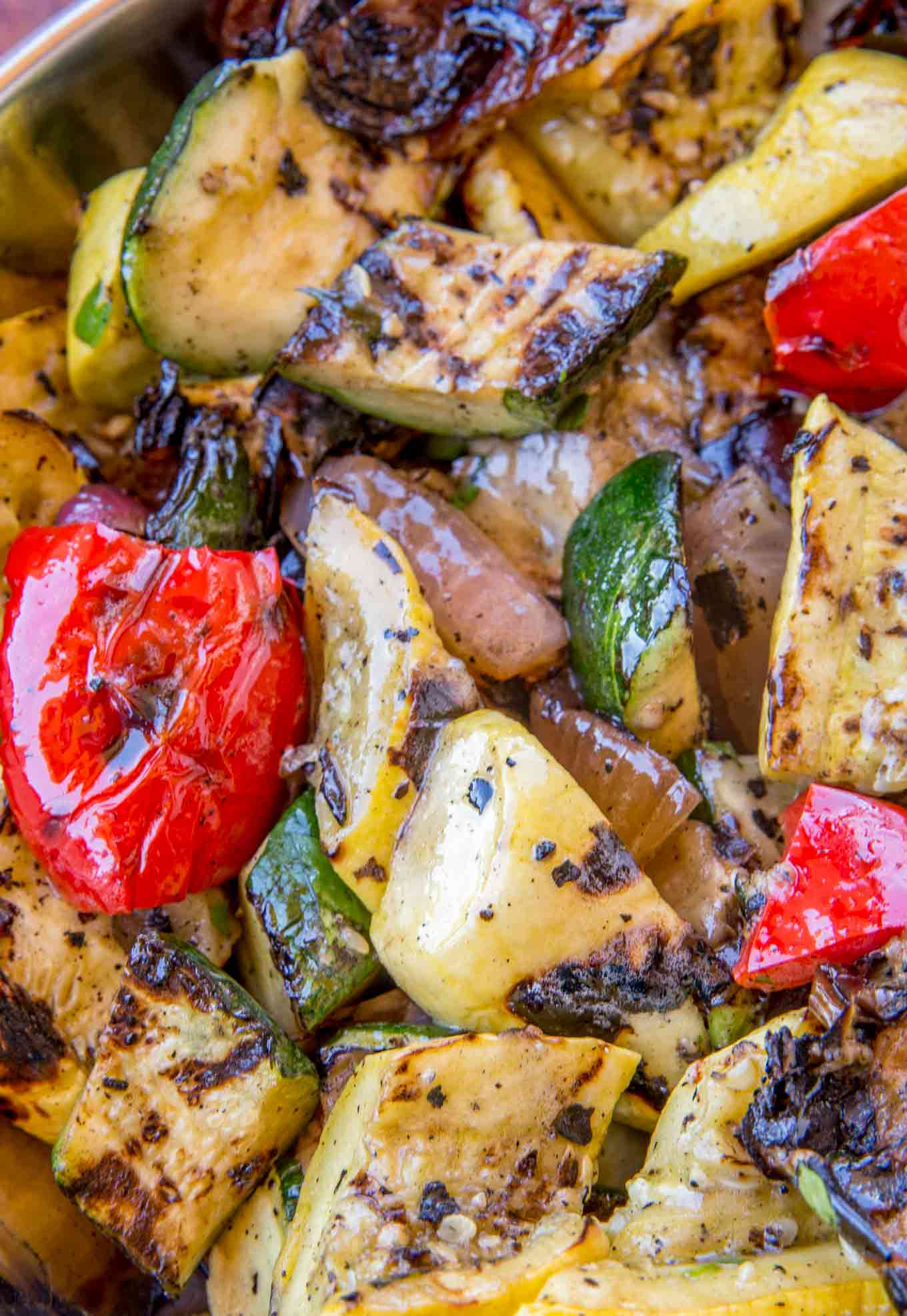Balsamic Grilled Bell Peppers and Squash