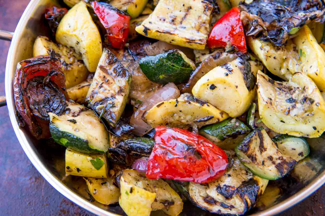 Balsamic Grilled Vegetables in Bowl