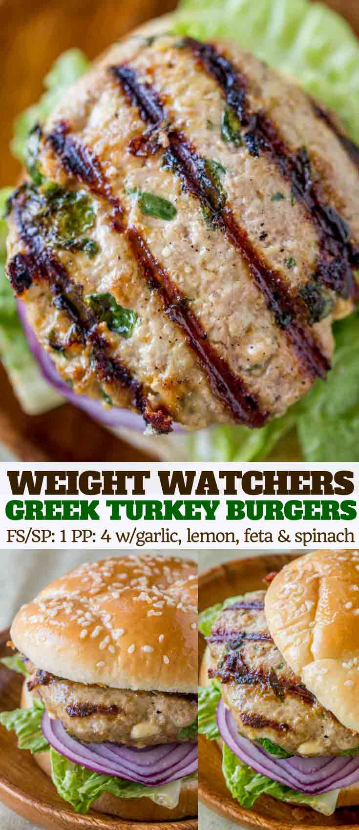 greek turkey burger collage