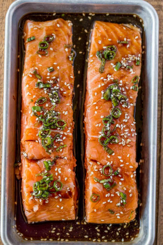 raw honey soy salmon