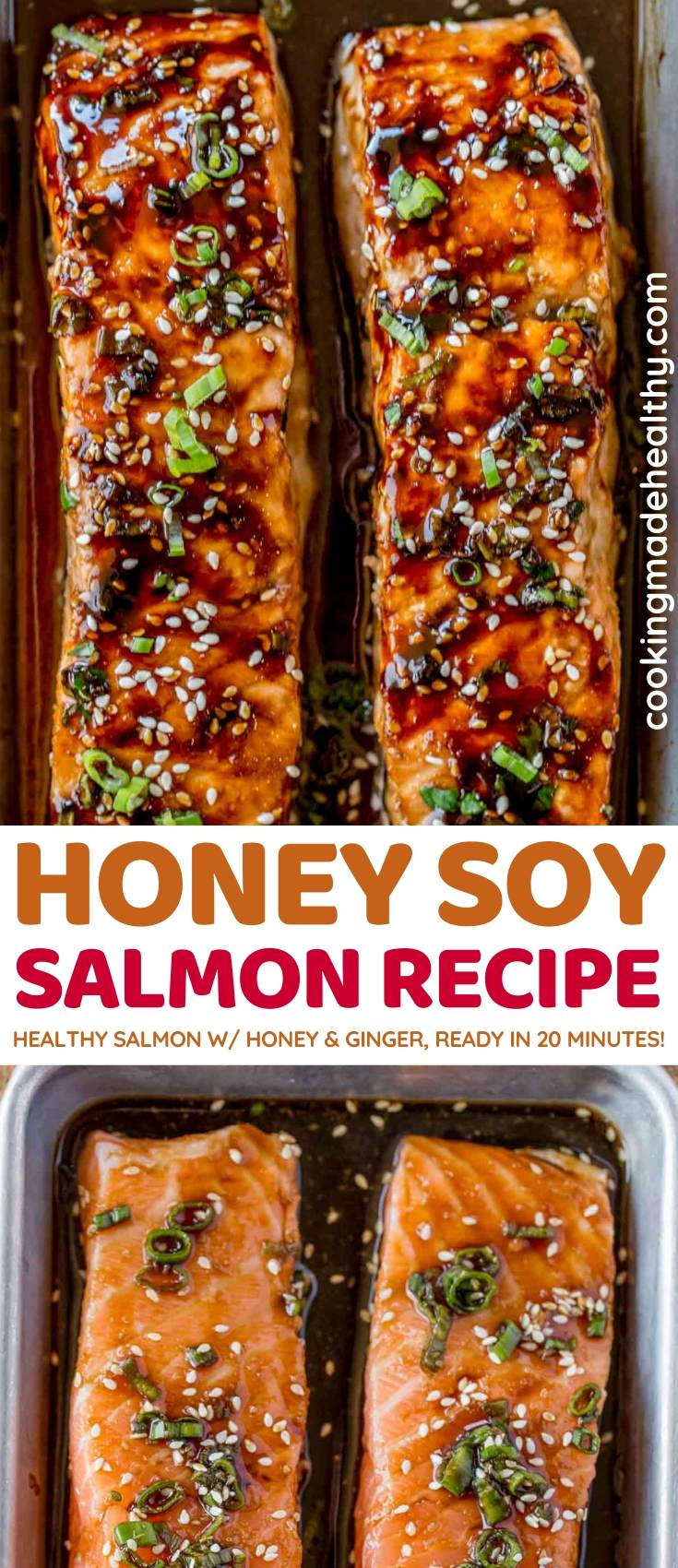 Honey Soy Salmon collage