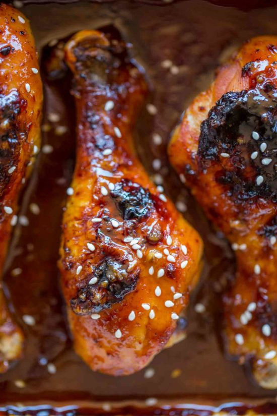 Sticky, sweet, spicy Korean BBQ Chicken Drumsticks are super easy to make!