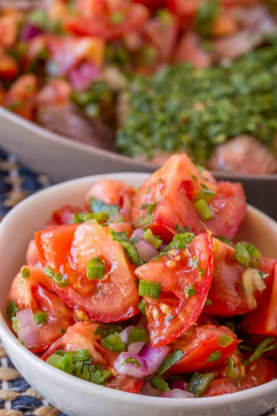 Pico de Gallo Salad with lime, onions, tomatoes and jalapenos is a quick, easy, FAT FREE side dish for your favorite Mexican recipes with zero points!