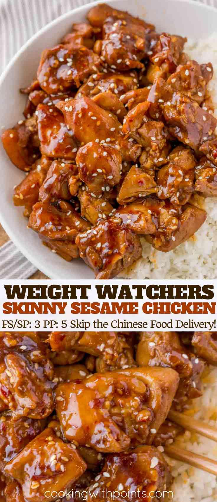 Skinny Sesame Chicken Collage