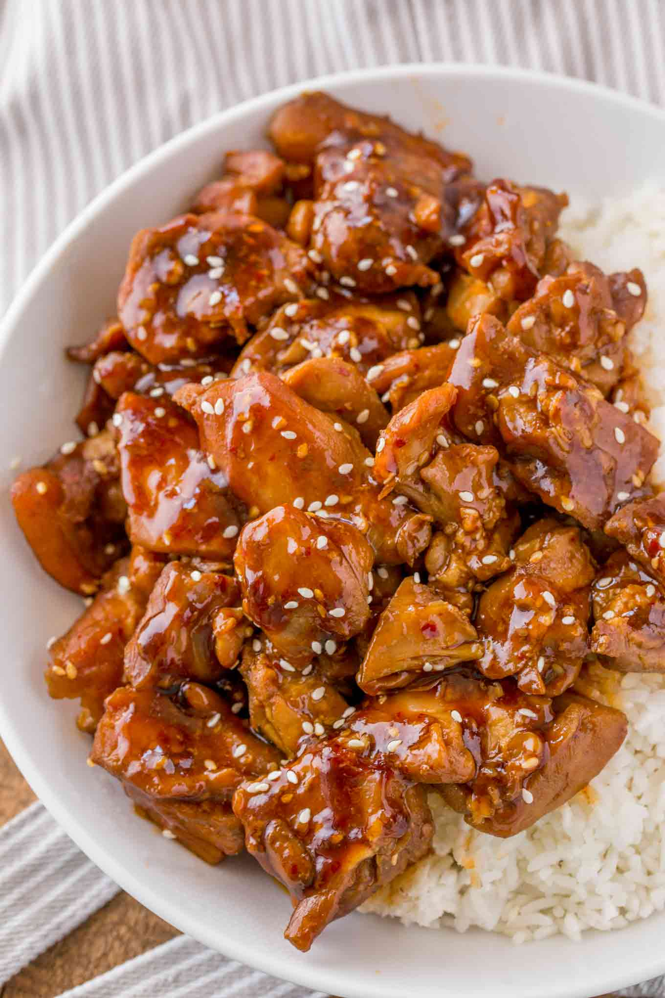 Skinny Sesame Chicken Cooking Made Healthy