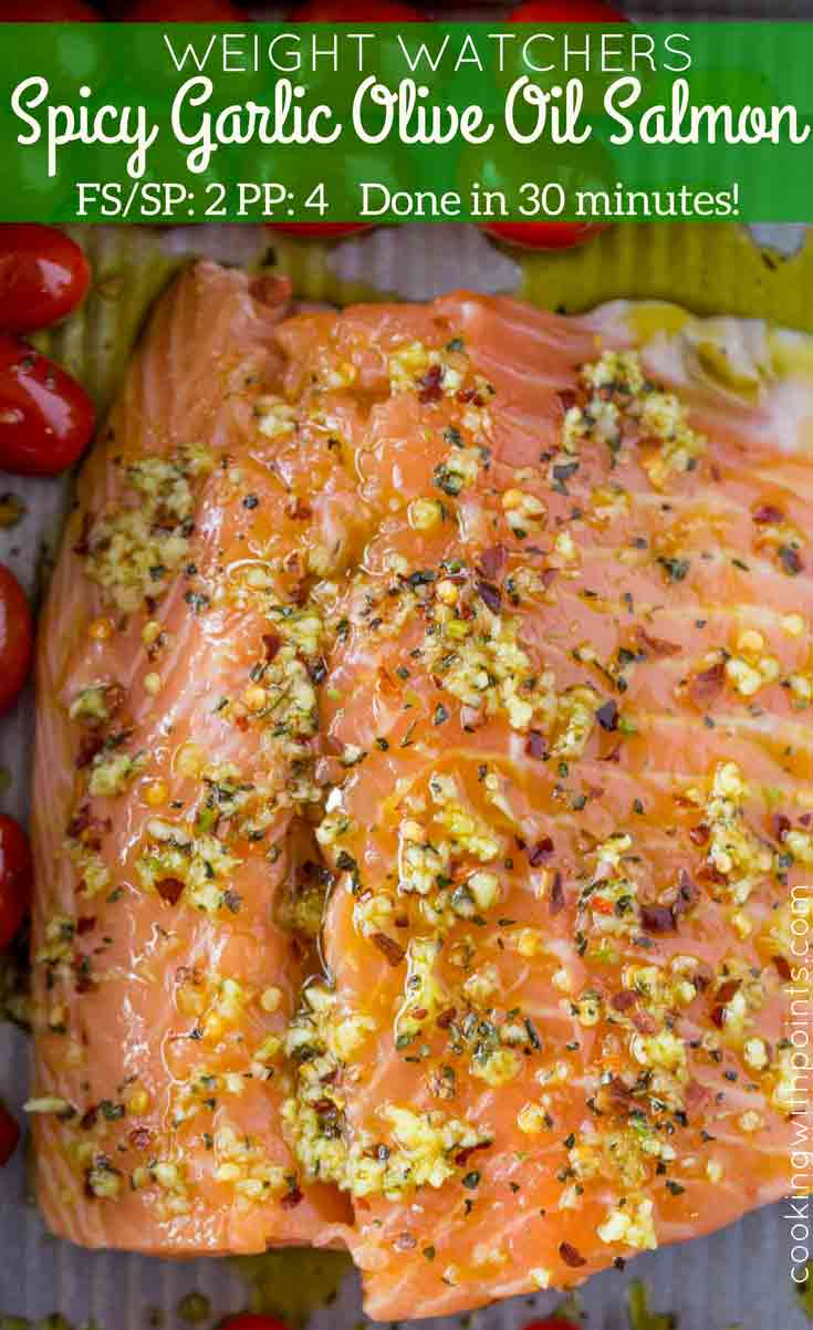 Raw Spicy Garlic Olive Oil Salmon