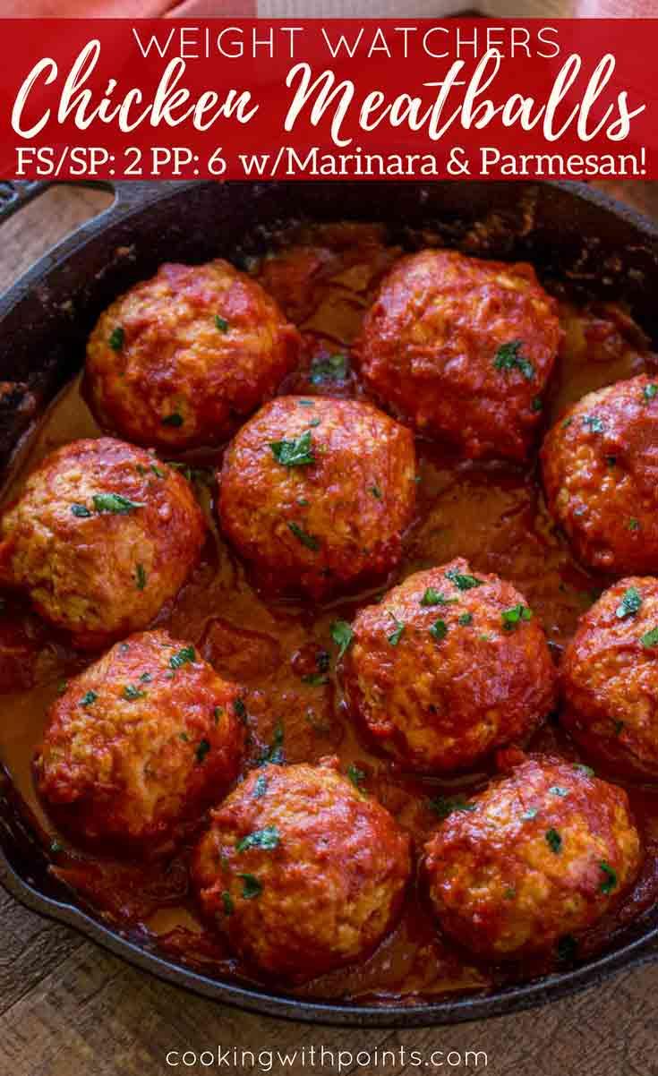 Baked Chicken Meatballs in Sauce