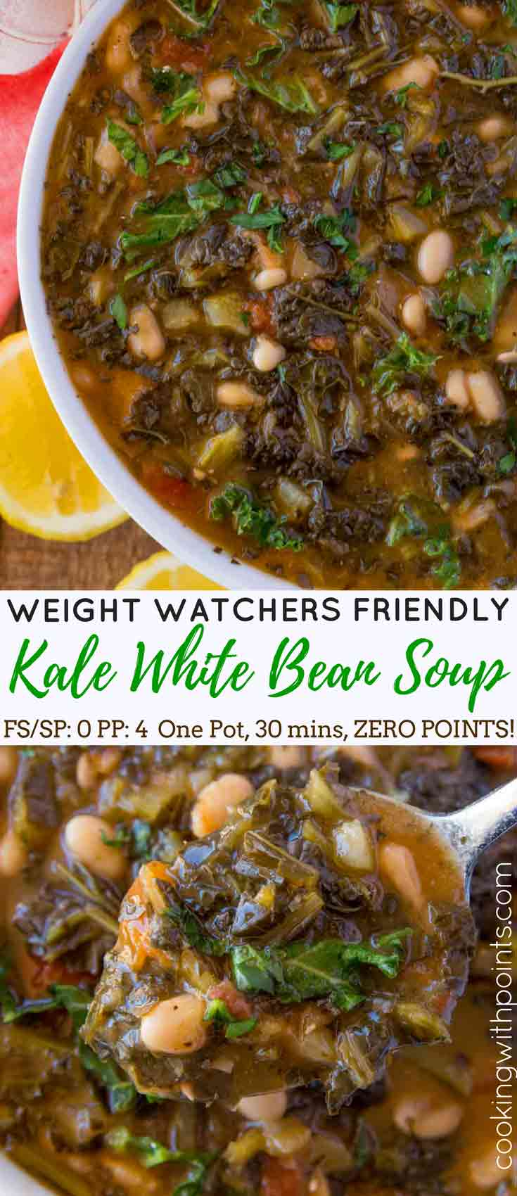 White Bean Kale Soup Collage