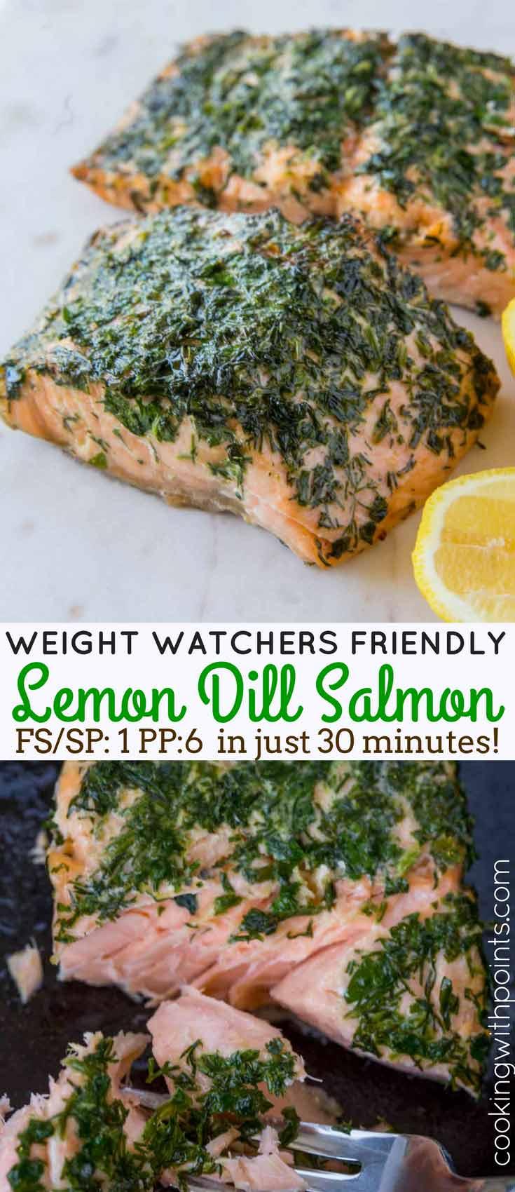 Lemon Dill Salmon Collage