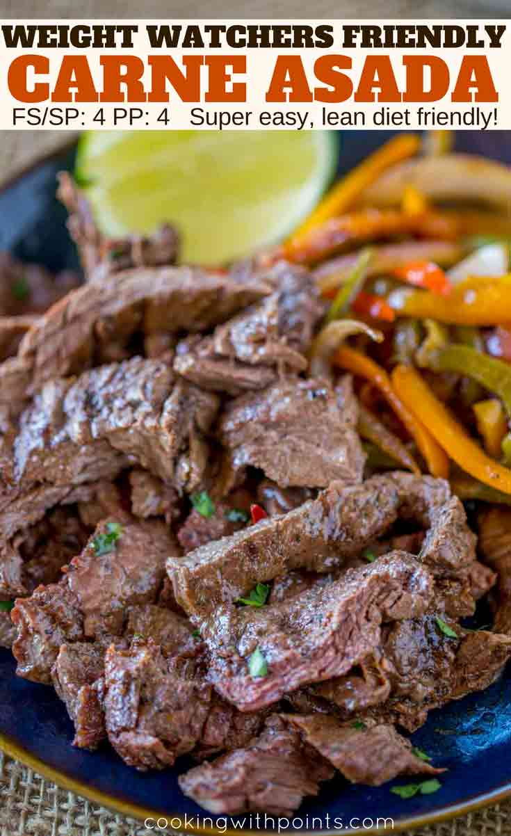 Weight Watchers Carne Asada on plate