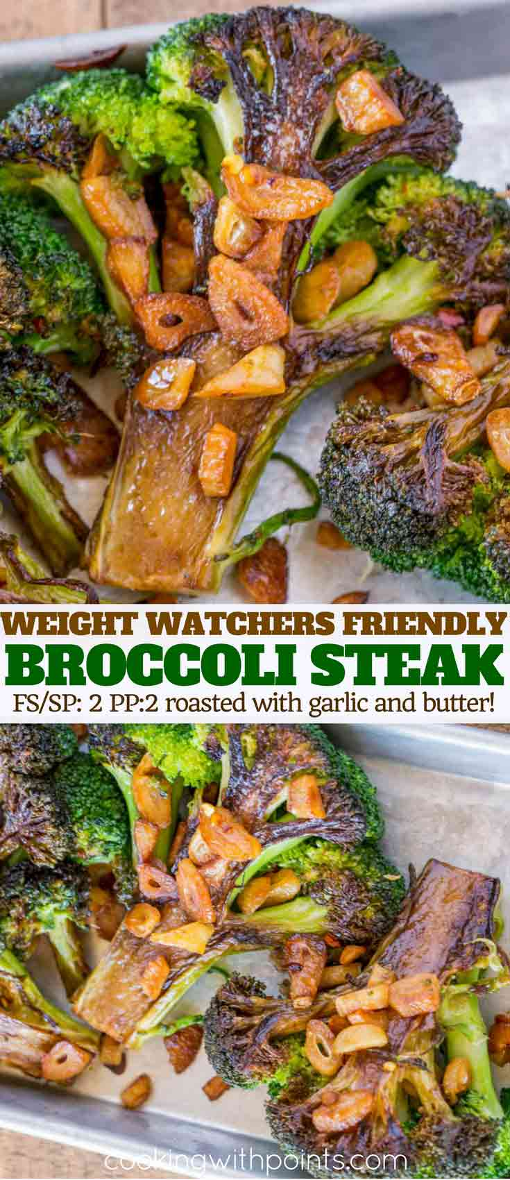 Garlic Butter Roasted Broccoli Steaks