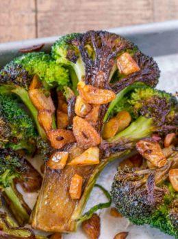 Garlic Roasted Broccoli Steaks
