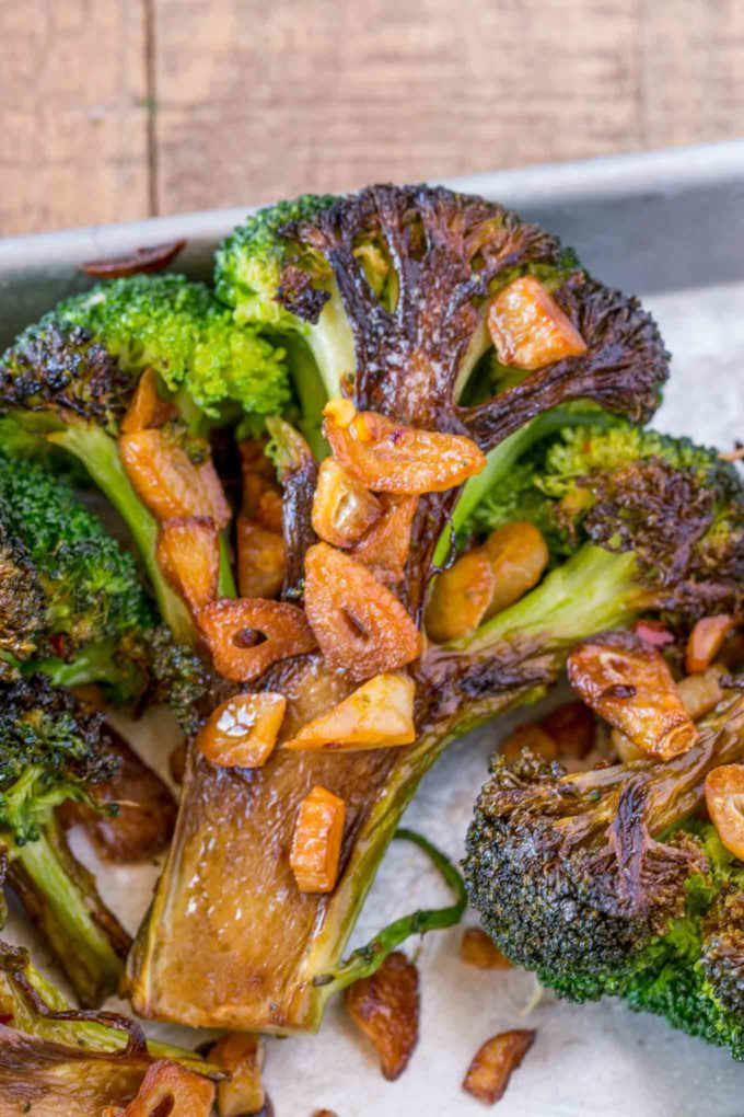Garlic Roasted Broccoli Steaks