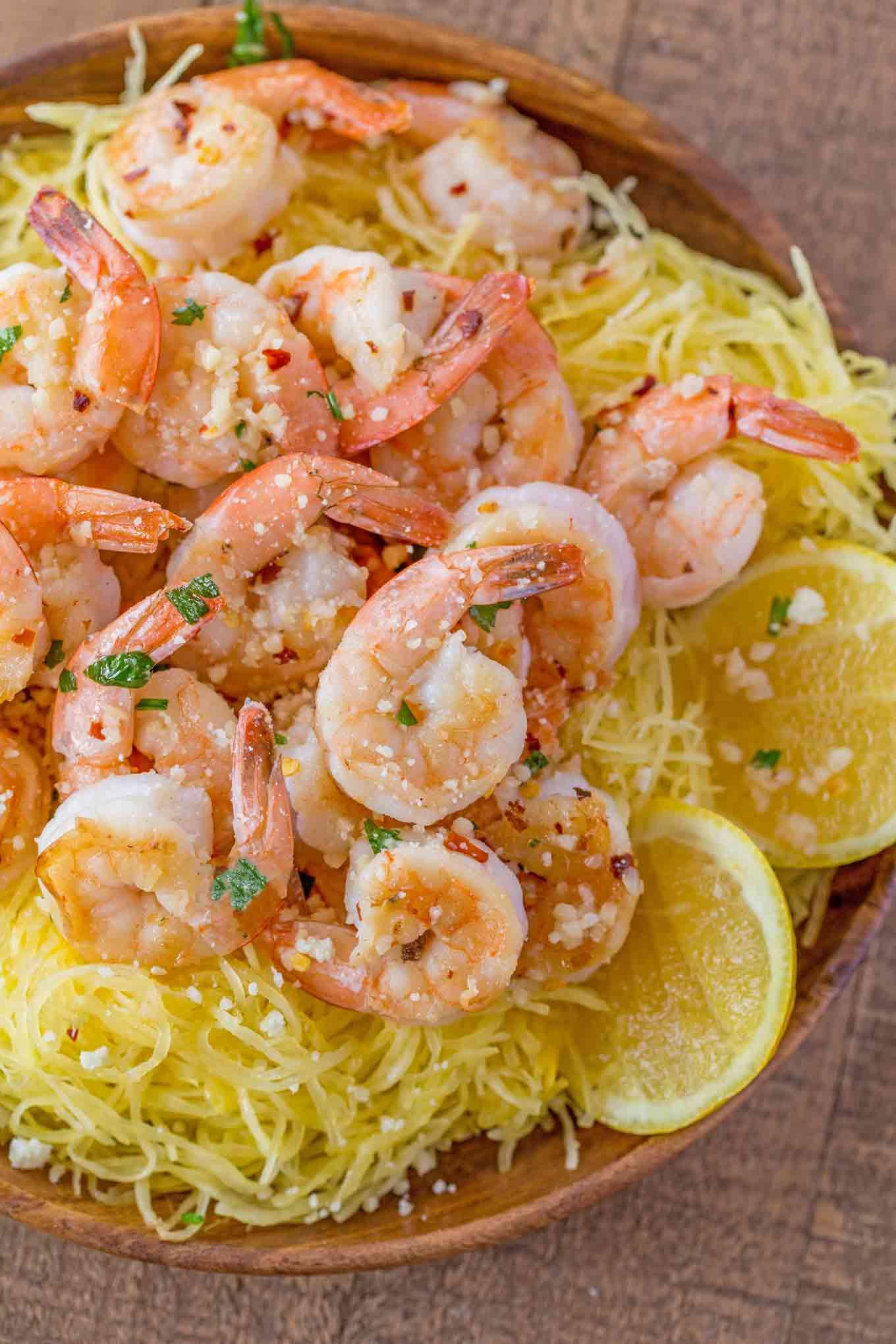 Shrimp Scampi Spaghetti Squash Pasta