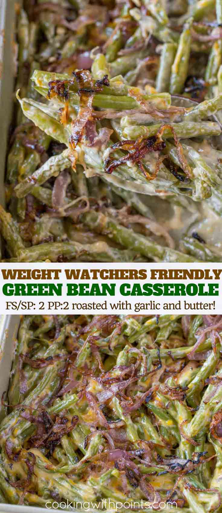 Healthy Green Bean Casserole with Cheddar