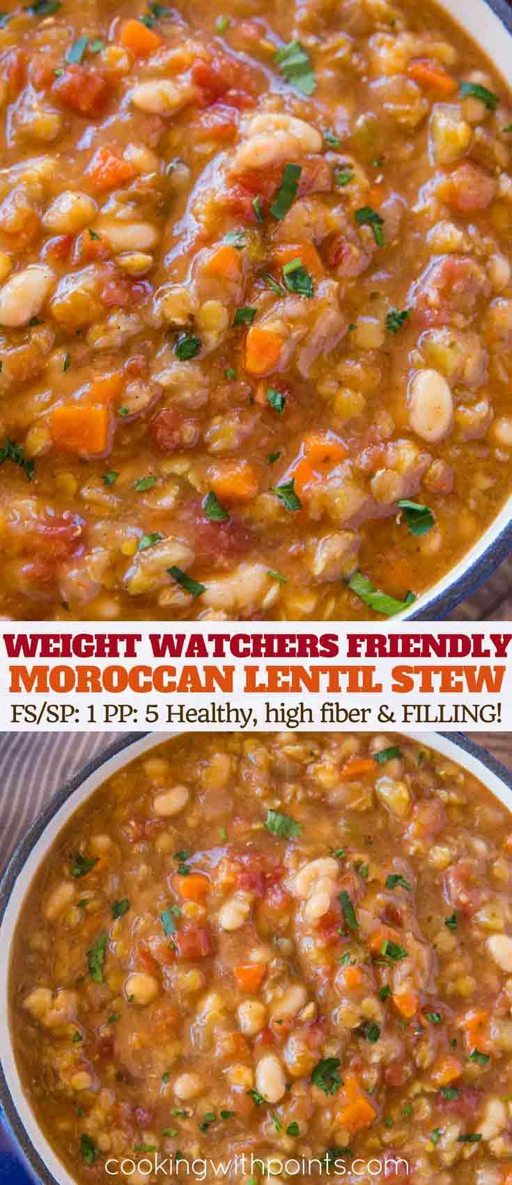 Weight Watcher Lentil and Bean Stew