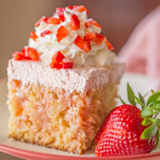 Strawberry Shortcake Poke Cake