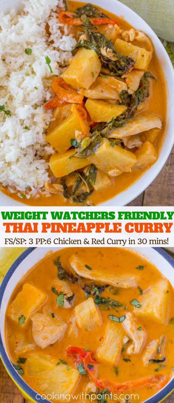 Thai Pineapple Curry with Chicken