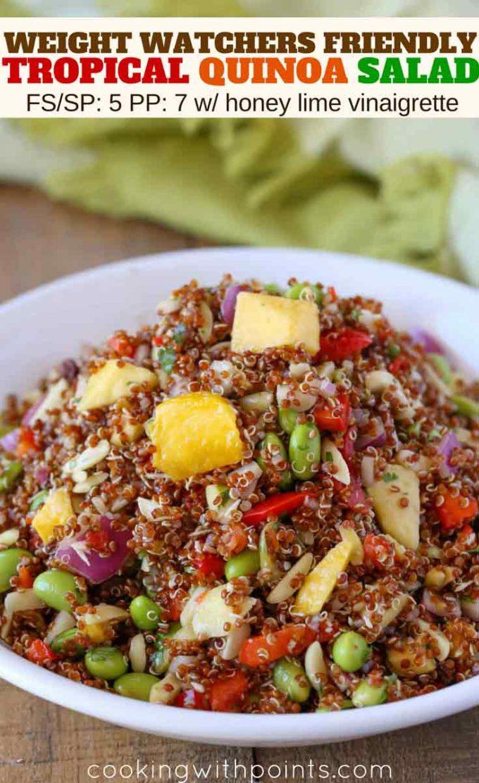 Summery Mango and Pineapple Quinoa Salad