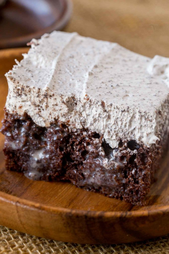 Oreo Flavored Poke Cake with Condensed milk