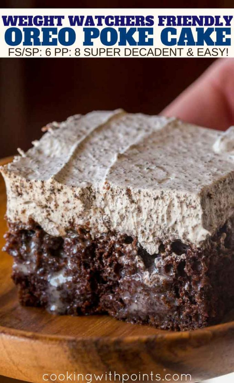 Decadent Oreo Poke Cake
