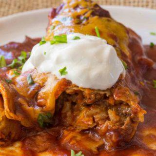 Skinny Chicken Enchiladas