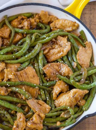 Healthier Weight Watchers Friendly Chicken and Green Bean Stir Fry