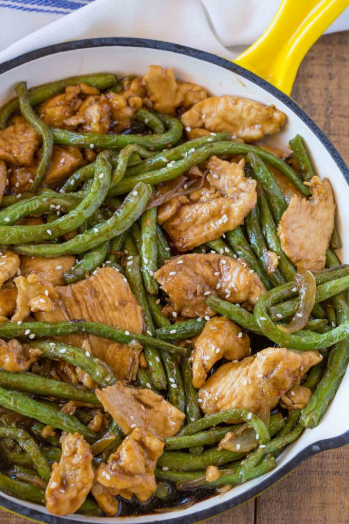 Healthier Weight Watchers Friendly Chicken and Green Bean Stir Fry
