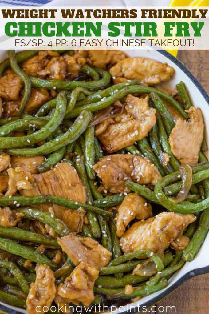 Easy Chicken Stir Fry - Weight Watchers Friendly