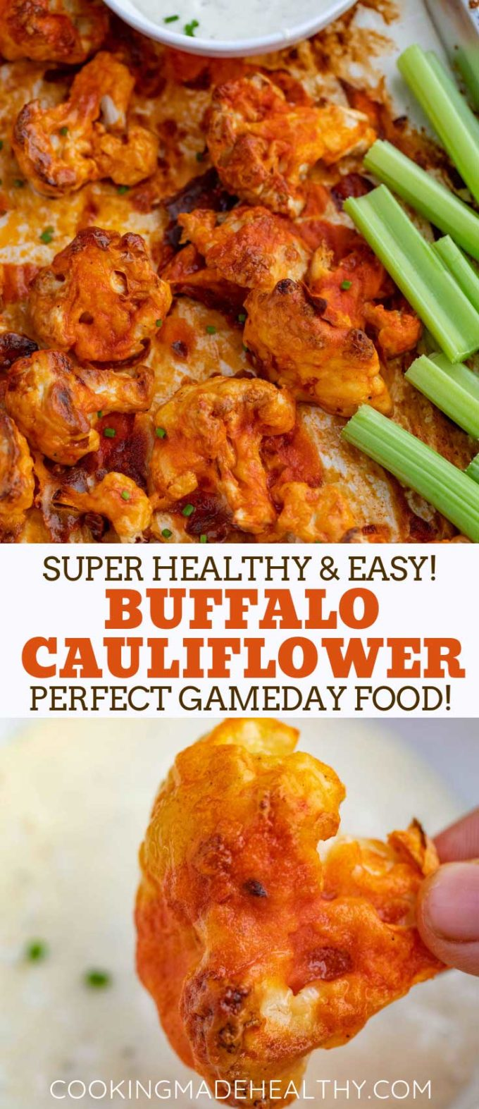 Buffalo Cauliflower Long pinterest pin