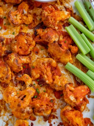 Baked Buffalo Wing Cauliflower