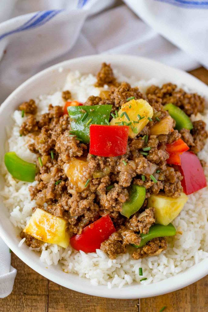 Hawaiian Beef with Pineapple and Bell Peppers