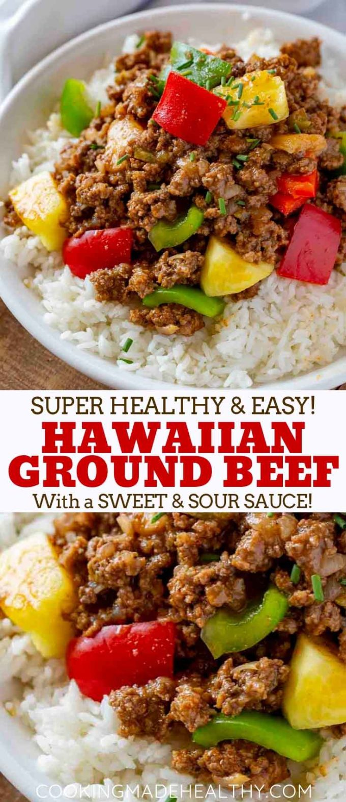 Hawaiian Beef Stir Fry with Sweet and Sour Sauce