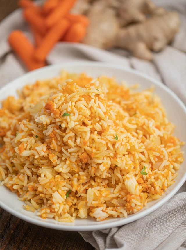 Plate of Carrot Rice