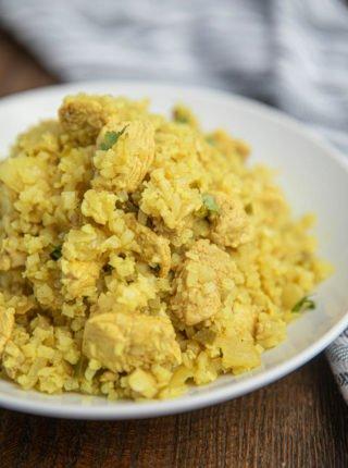 Cauliflower Rice Chicken Biryani
