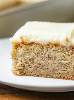 Healthy Banana Cake on Plate