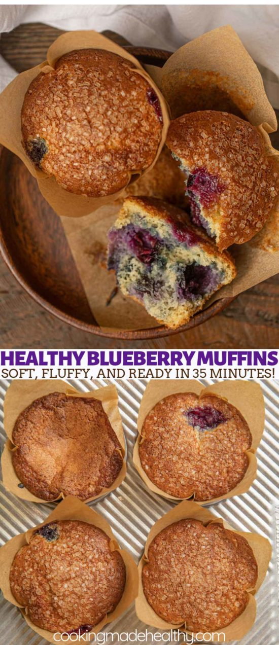 Close up blueberry muffins