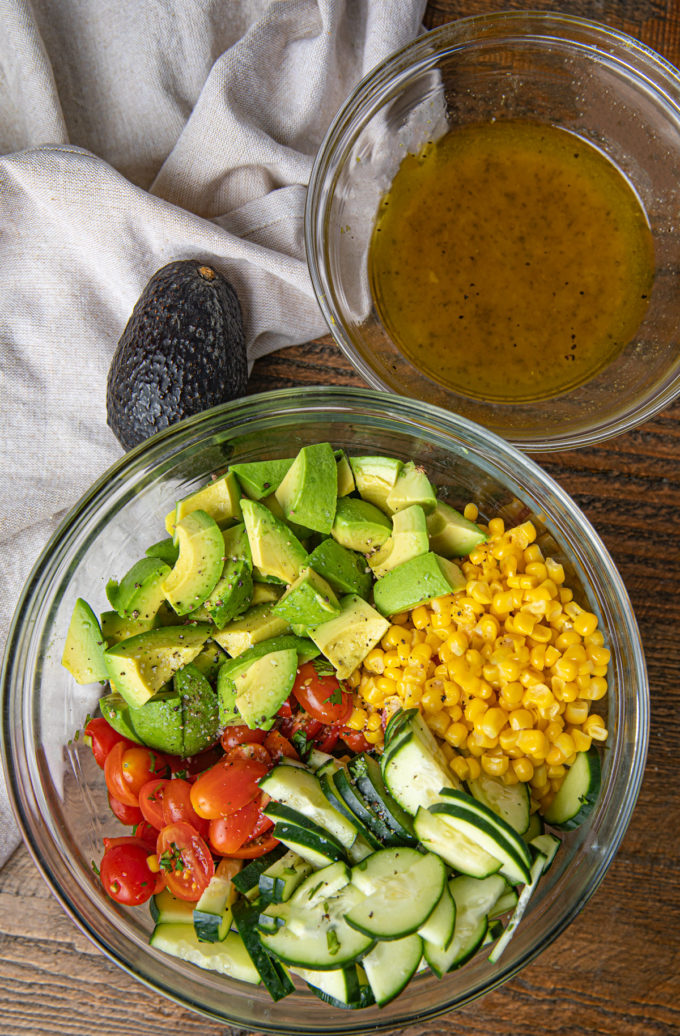 Avocado Corn Salad Ingredients