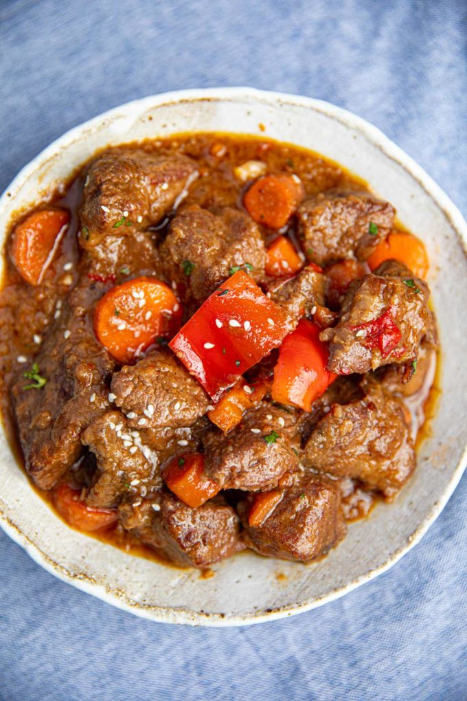 Korean Beef Stew from top