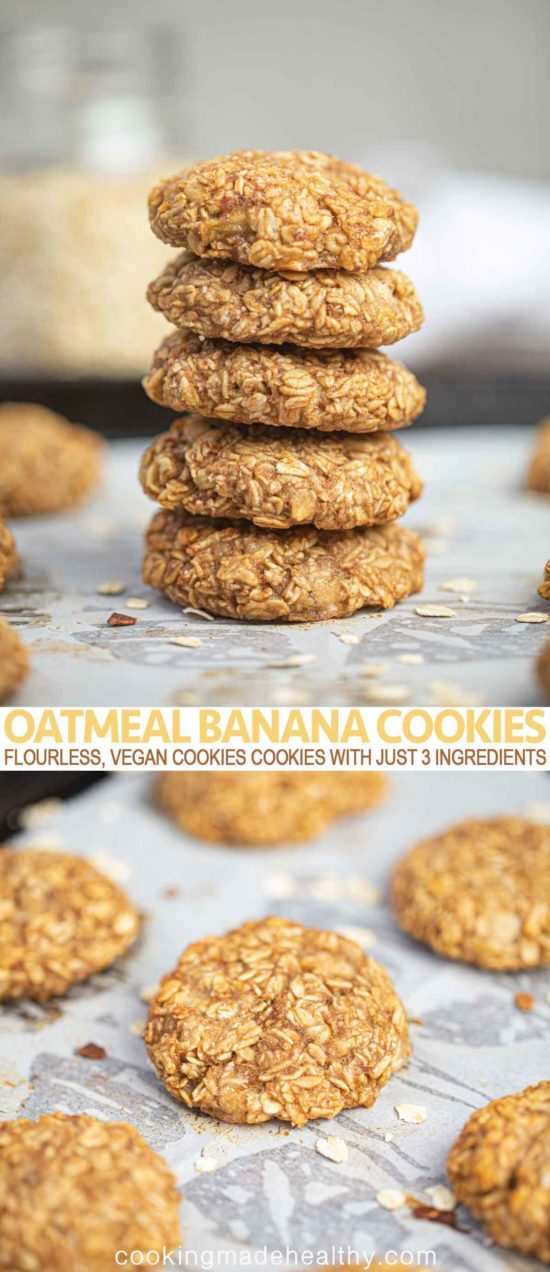 Oatmeal Banana Cookies Close Up