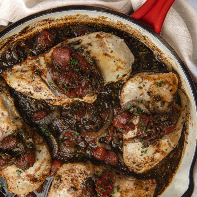 Balsamic Chicken in Pan