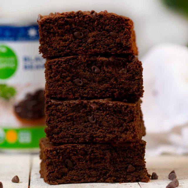 Stack of Black Bean Brownies