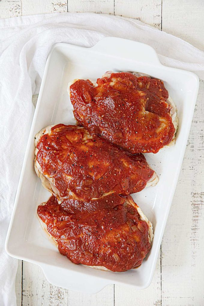 Raw Oven BBQ Chicken Breasts