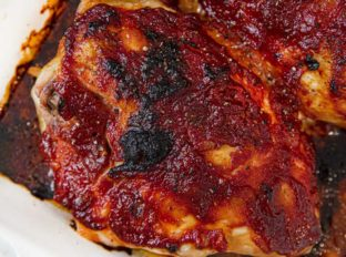 Oven Baked Chicken Breasts with BBQ Sauce