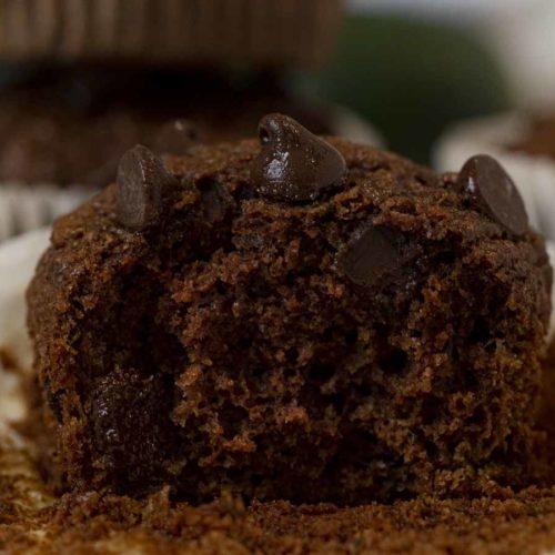 Whole Wheat Chocolate Zucchini Muffins