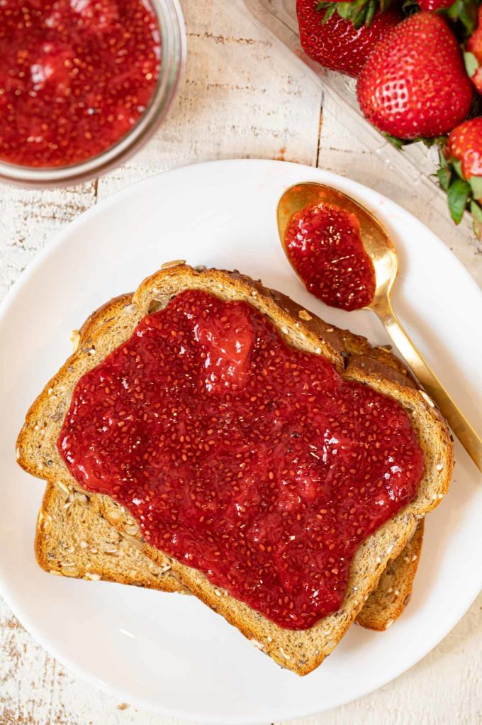 Strawberry Chia Jam on toast