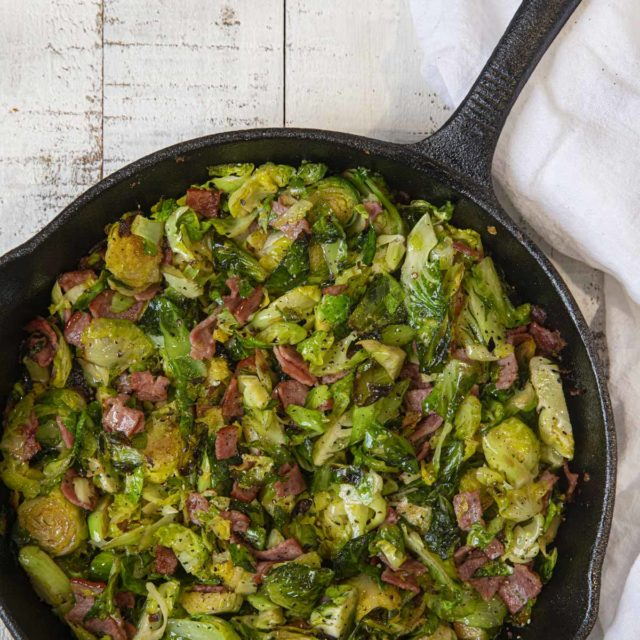Turkey Bacon Sauteed Brussel Sprouts
