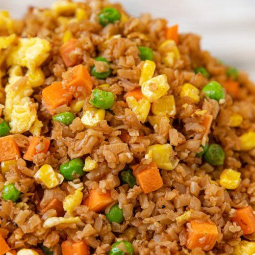 Cauliflower Fried Rice with egg