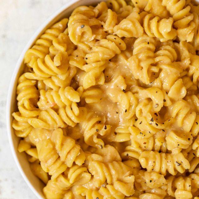 Creamy White Bean Pasta in bowl