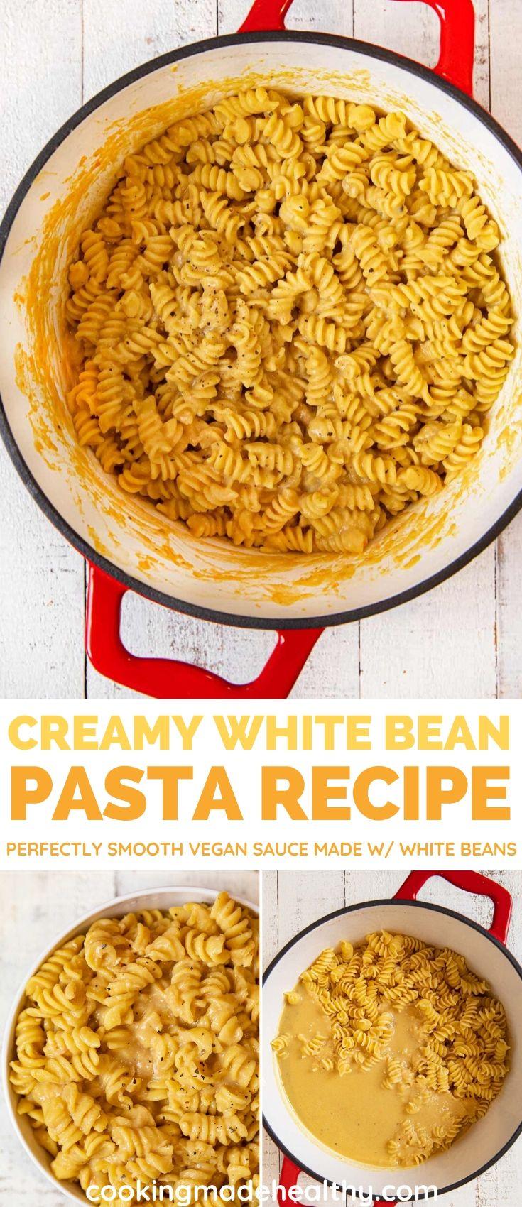 Creamy White Bean Pasta collage